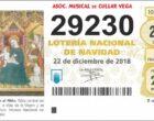 Ya podéis adquirir el décimo de Loteria de Navidad de la Asociación Musical (29230)